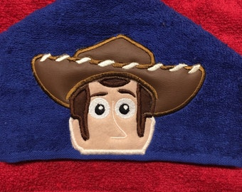 Toy Sheriff Hooded Towel