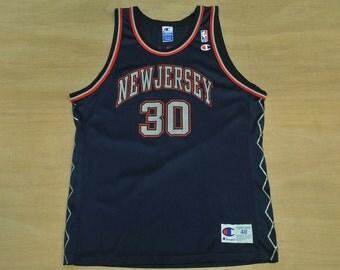 New Jersey Nets - Size XL / 48 - Kerry Kittles - Vintage Champion NBA Basketball Jersey