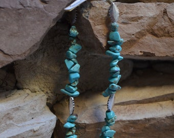 Blue Green Turquoise Magnesite Anklet