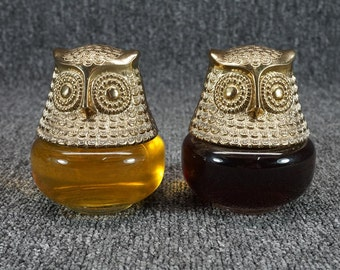 """Vintage Avon """"Raining Violets"""" & Unknown Scent Owl Cologne Gelees (Full, No Box)"""
