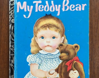 RARE, First Edition thus 1969 My Teddy Bear by Eloise Wilkin Vintage Sydney Little Golden Book, written by Patsy Scarry, Eloise Wilkin