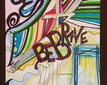 Mixed Media art print, illustration, christian art, street art, contemporary art, art print, bible verse