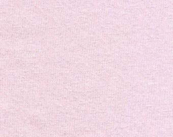 Powder Pink Medium Weight 10 oz Solid Cotton Lycra Jersey Knit Fabric [SKU:MFR14FAB001BB]