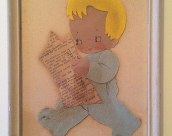 1950s kitschy midcentury wall hangings - set of 2 IRMI young ideas collages