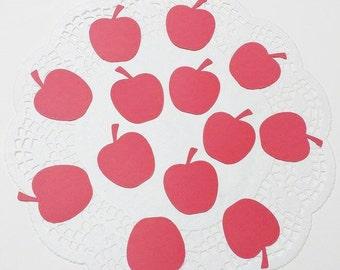 "Apple Die Cuts Embellishments Confetti: Red (1.58"" W x 1.91"" H)"