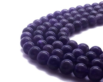 2mm Natural Amethyst Beads Round 2mm Amethyst 2mm Amethyst Beads Amethyst Birthstone February Birthstone Stone Amethyst Gemstone Purple Bead