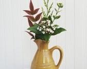 Sahara antique jug vase flower holder medium size vase mustard decor 1960s new home textured vase home decoration handmade vase