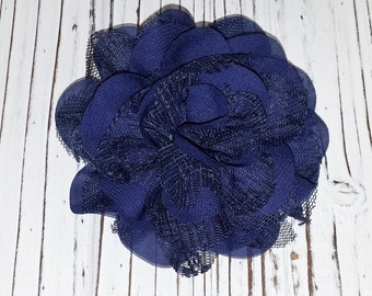 Navy Blue Flower Hair Clip, Alligator Clip, Lace Flower Hair Clip,  Child, Teen, Adult, Add A Flower to a Headband