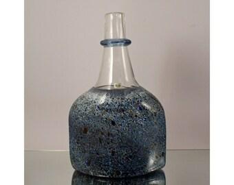 Bertil Vallien Satellite ATELJE Bottle, BODA, Sweden. Scandinavian Art Glass