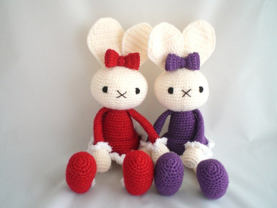 Amigurumi Floppy Ear Bunny : Crochet Rabbit / Amigurumi Bunny Rabbit / Floppy Eared Rabbit