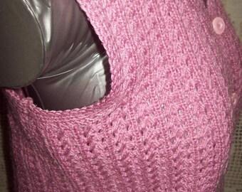 Vintage Sleeveless Cardigan hand knit