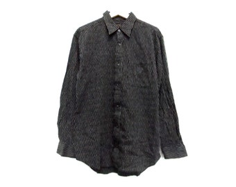 Vintage MCM button down shirt striped Large size