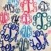 DIY Iron On Monogram - Vinyl Monogram Shirt Decals