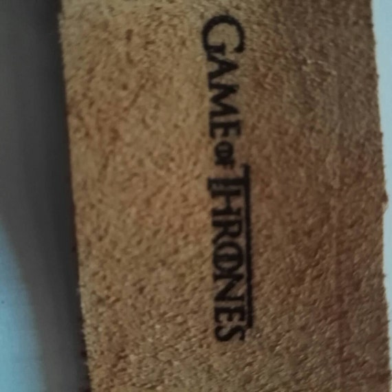 GAME OF THRONES Leather House of Stark laser engraved bookmark