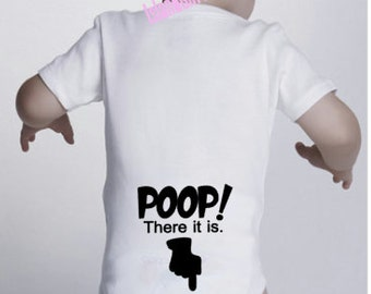 POOP! There it is. bodysuit / onesie® outfit / creeper Baby-funny baby onesie