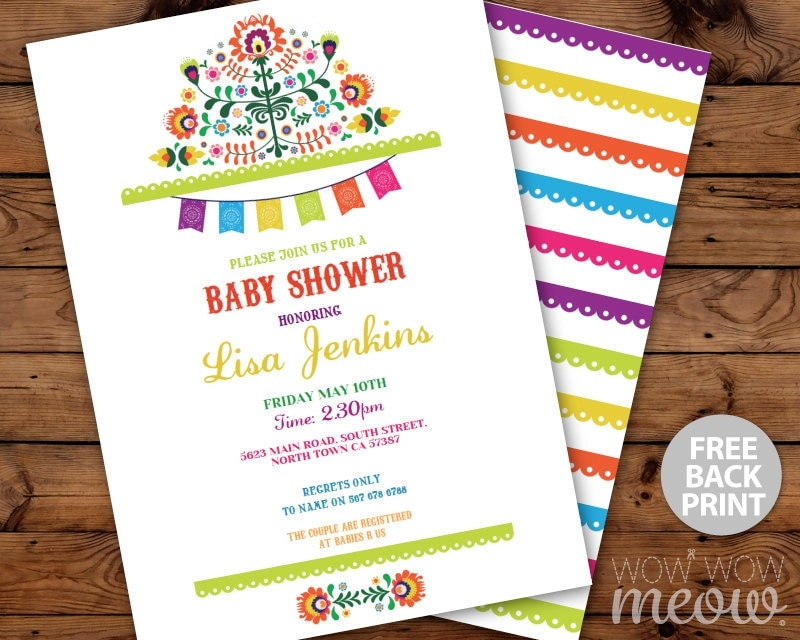 fiesta baby shower invitations mexican invite instant download