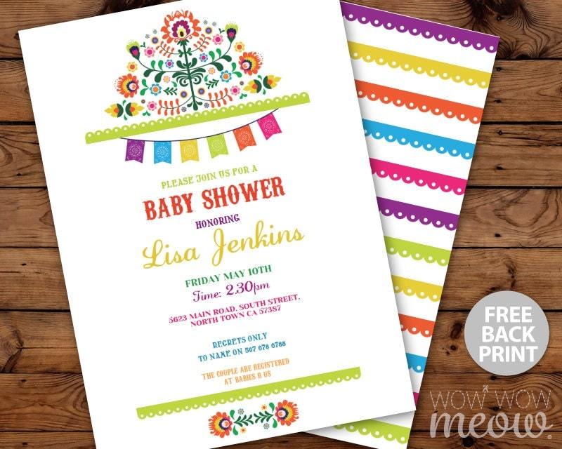 Fiesta baby shower invitations mexican invite instant download - Fiesta baby shower ...
