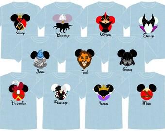 Disney Shirt DISNEY VILLIANS Disney Vacation Group Shirts