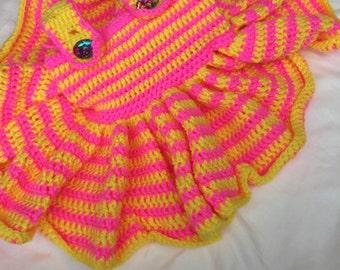 ruffled baby dress w/matching head band