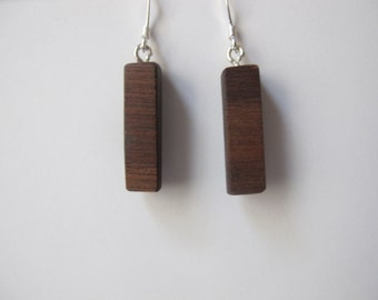 Walnut Wedge Earrings