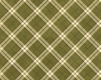 """Green Plaid Christmas Fabric/""""My Precious Quilt"""" collection_8539-66"""
