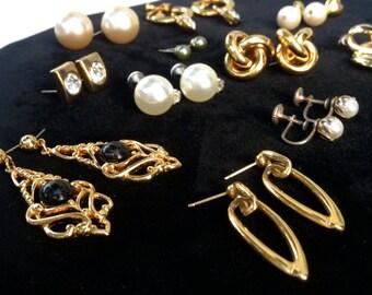 SALE! Vintage Lot Of Earrings