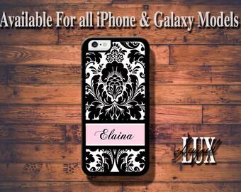 Pink Damask iPhone 6 Case/ Damask Monogram iPhone 6 Plus Case/  Damask iPhone 5/5S Case/ iPhone 4/4s Case