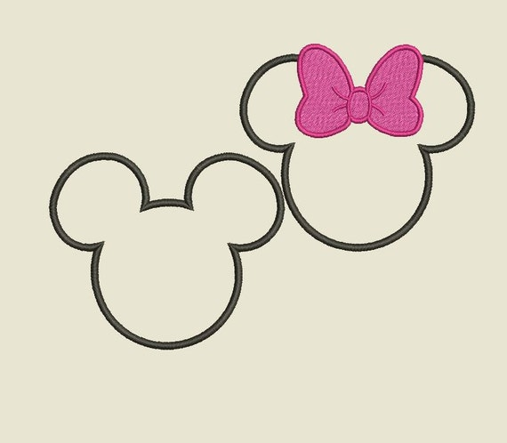 Mickey Mouse Embroidery Designs Applique Bow