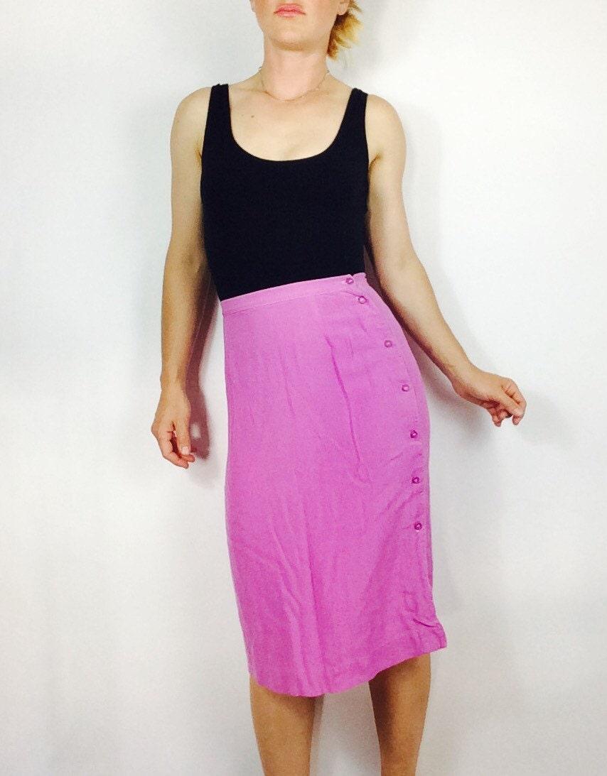 pink midi skirt pink pencil skirt skirt s high waisted skirt