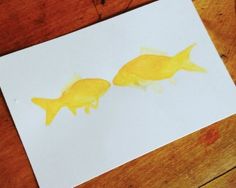 "4x6"" Fish Watercolor Prints"