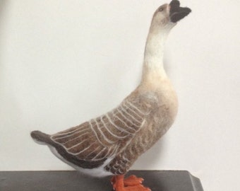 Needle Felted African Goose Made to Order