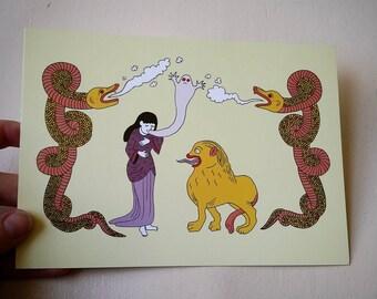 Postcard - snake / / Postcard - Snakes