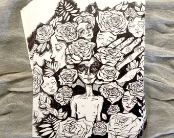 ROSY FINGERS - blank postcard stationery