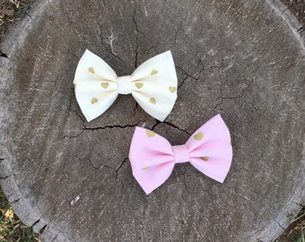 Golden Hearts Bow