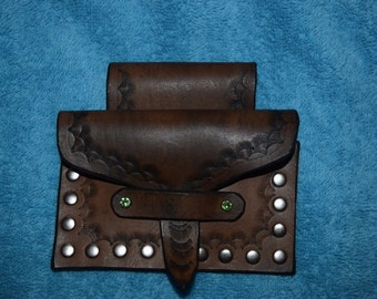 Leather Dark Brown Hand Crafted Belt Bag