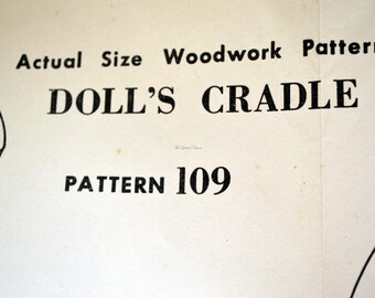 The Sun. News pictorial, Melbourne, pattern 109. Doll's Cradle. 1950's, woodwork pattern.