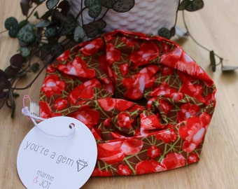 Red Poppy Scrunchy