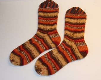 Hand Knitted Socks, Handmade Socks, ladies socks, knitted gift, warm winter socks, size M