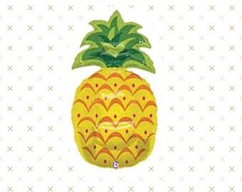 "Pineapple Balloon, 37"", Pineapple Balloons, Luau Party, Birthday Party, Shower, Pineapple, Party Decorations, Pineapple Decoration, Hawaiian"