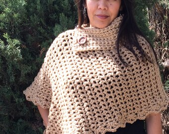 Crochet poncho cape Knifty Knitter Shawl, Poncho, Shrug and Wrap