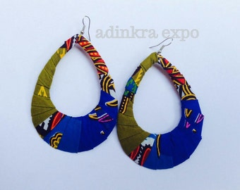 Yaayaa African print earrings