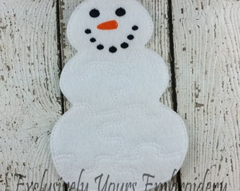 Snowman Puzzle w/Storage Pouch, Quiet Game, Toddler Toy, Travel Toy, Party Favor