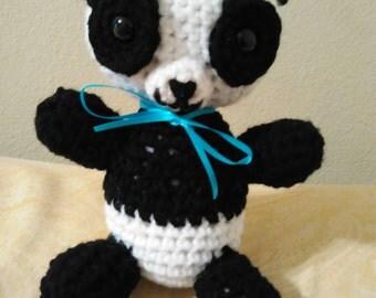 Crocheted Stuffed Panda
