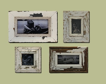 A Gallery Wall of Industrial Rustic frames