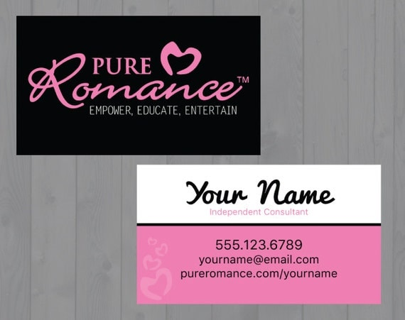 Pure romance consultant business cards printed by for Pure romance business cards