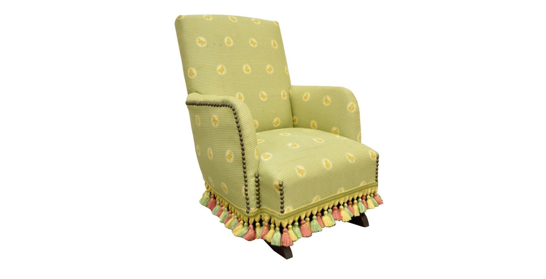 Vintage Mahogany Upholstered Victorian Childs Kids