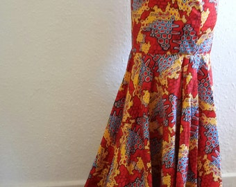 Ankara/african print fishtail/mermaid skirt