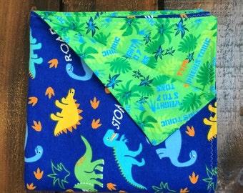 Items Similar To Baby Blanket Minky Baby Blanket Dino
