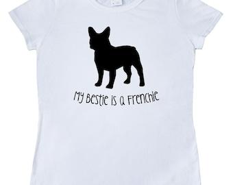 Bestie Frenchie Women's T-Shirt by Inktastic