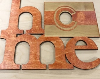 Home State sign Laser cut wood sign, Home state sign,  custom laser cut wood signs, arizona, texas, california